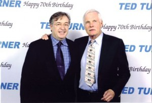 Maxwell with Turner at Turner's 70th birthday